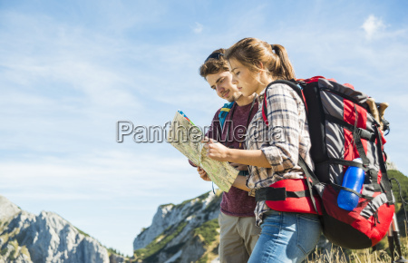 austria tyrol tannheimer tal young hikers