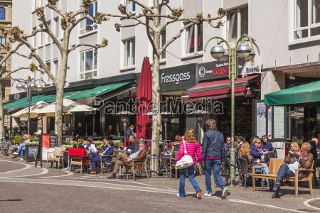 germany hesse frankfurt shops and cafes