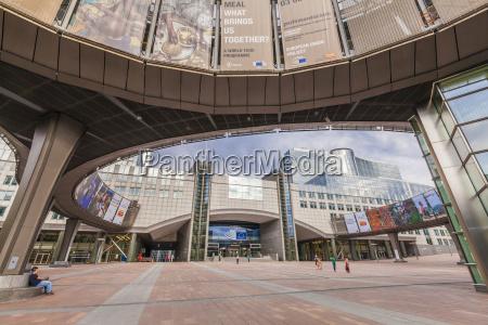 belgium brussels european parliament at european