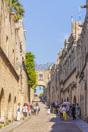 greece rhodes old town medieval road