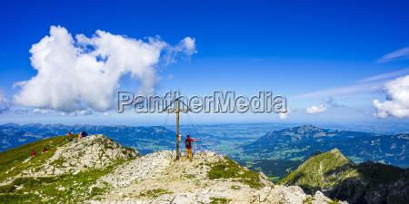 germany bavaria allgaeu alps summit cross