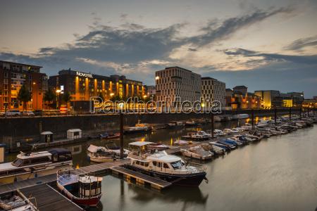 germany cologne rheinau harbour marina and