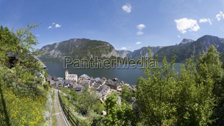 austria upper austria salzkammergut hallstatt view