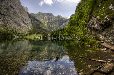 germany bavaria berchtesgaden lake obersee near