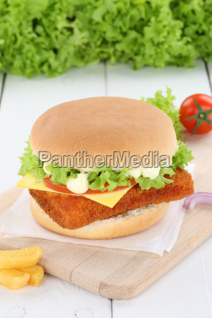 fishburger burger bake hamburger fresh cheese