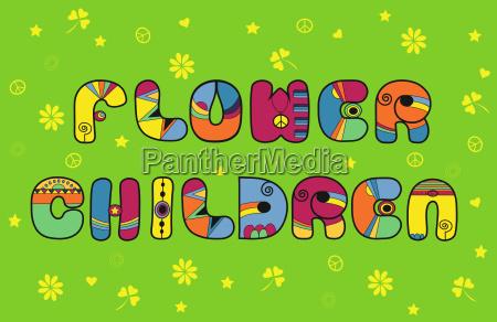 flower children hippie font