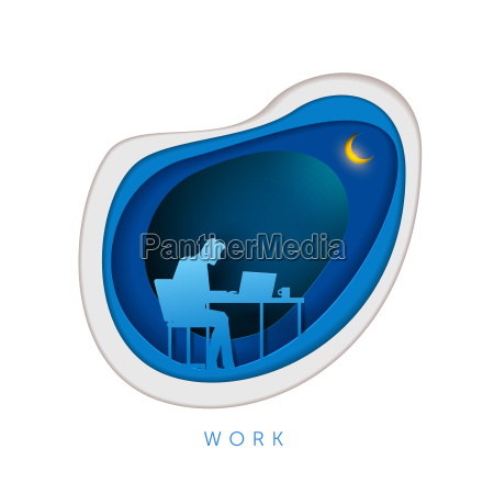business concept paper art illustration