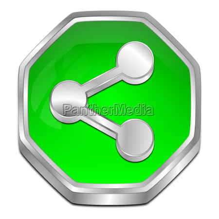 decorative green share button 3d