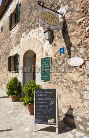 spain mallorca menu board outside cafe