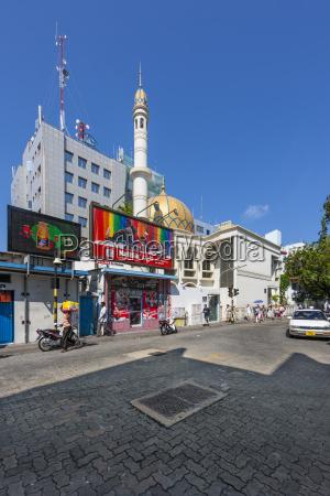 maldives male street scene
