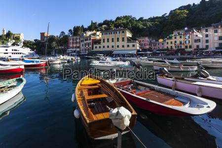 italy liguria portofino view of harbour