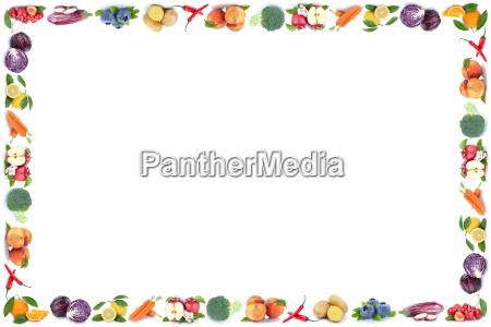 frutas y hortalizas frutas marco texto