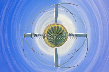 wind turbine in the air vortex