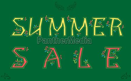summer sale artistic font