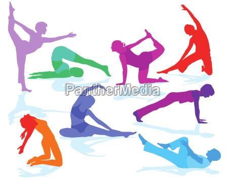 gymnastics figures and fitness training