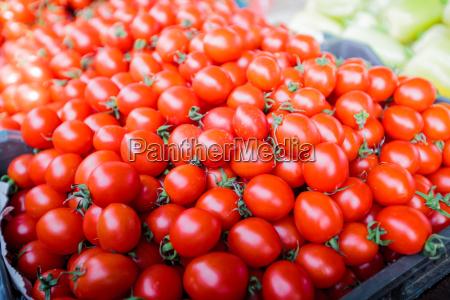 cherry tomatoes red ripe market