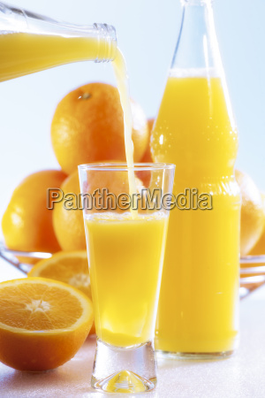 orange lemonade with pour