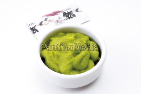 wasabi green horseradish paste