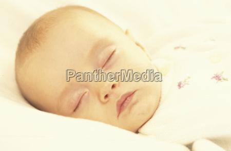 baby sleeping close up
