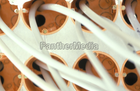 electrical installation on construction site in