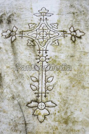france alsace cross on gravestone