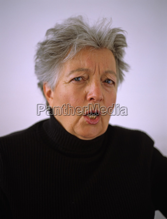 senior woman in anger portrait