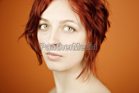 portrait of a redheaded woman