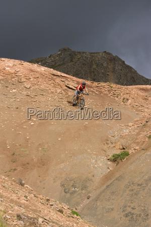 iceland man mountain biking