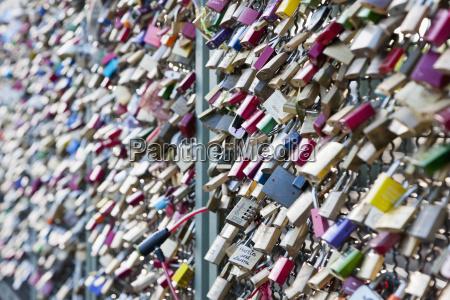 germany cologne variety of padlocks on