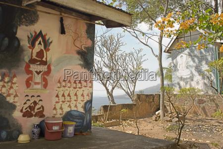 thailand nakhon ratchasima monk colony wall