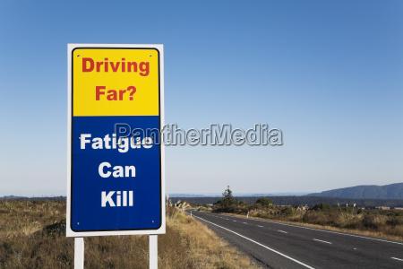 new zealand north island warning sign