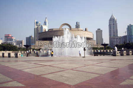 china shanghai museum peoples square fountain