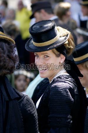 austria salzburg country altenburg woman in