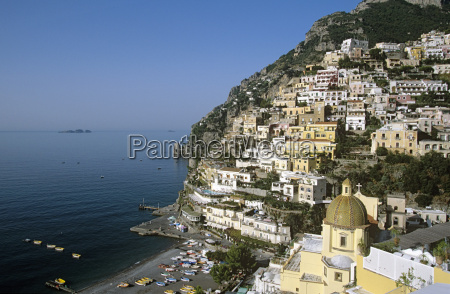 italy positano view to coast amalfi