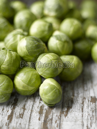 raw brussels sprouts close up