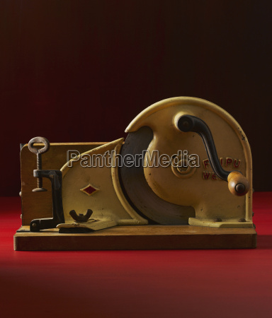 old bread cutter close up