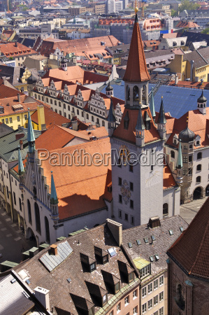germany bavaria munich view over city