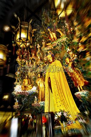 china shanghai figurines longhua temple