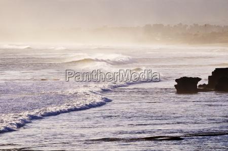 indonesia bali waves crashing on shore