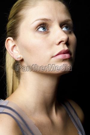 portrait of young woman close up