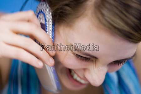 young woman on mobile phone close