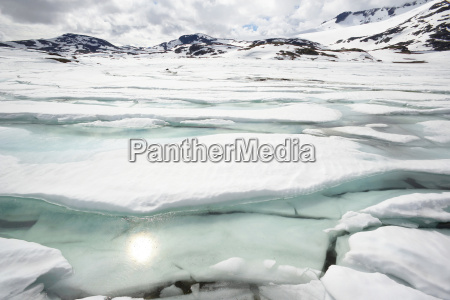 norway fjord norway oppland ice floes
