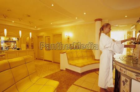 woman having treatment in health resort