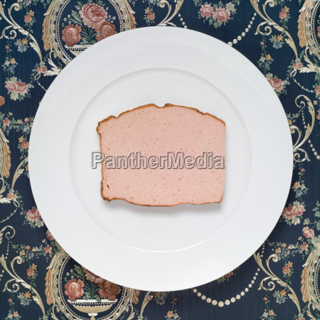 slice of meat loaf on plate
