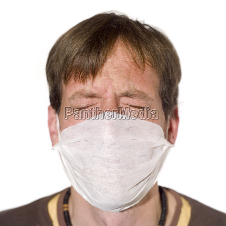 man wearing a surgical mask portrait