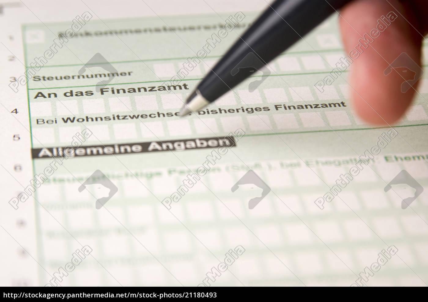 tax, form, , close-up - 21180493