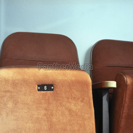seats in a cinema close up