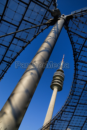 germany bavaria munich view of olympic