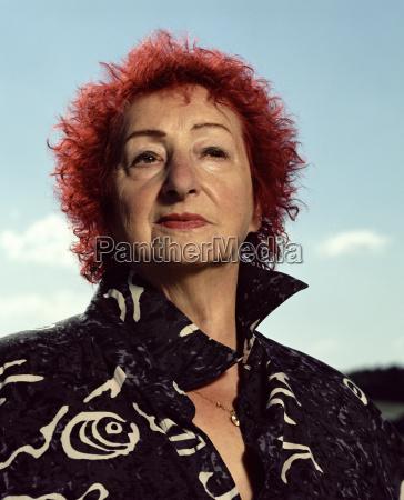 elder woman close up