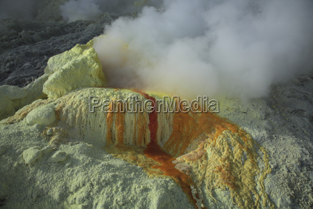 indonesia east java welirang volcano sulphur